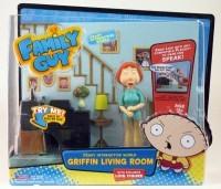 Family Guy Playmates AF Living Room Playset Lois