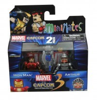 Minimates Marvel V Capcom Iron Man and Arthur