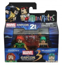 Minimates Marvel V Capcom Phoenix and Morrigan