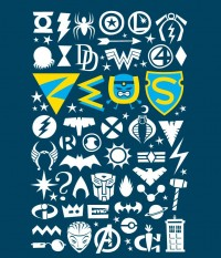 Zeus T-Shirt Royale Blue  by Luc Latulippe Small