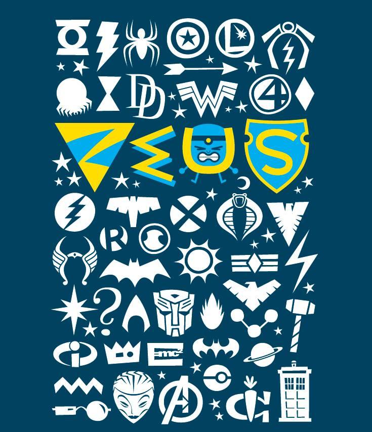 Zeus T-Shirt Royale Blue  by Luc Latulippe XLarge