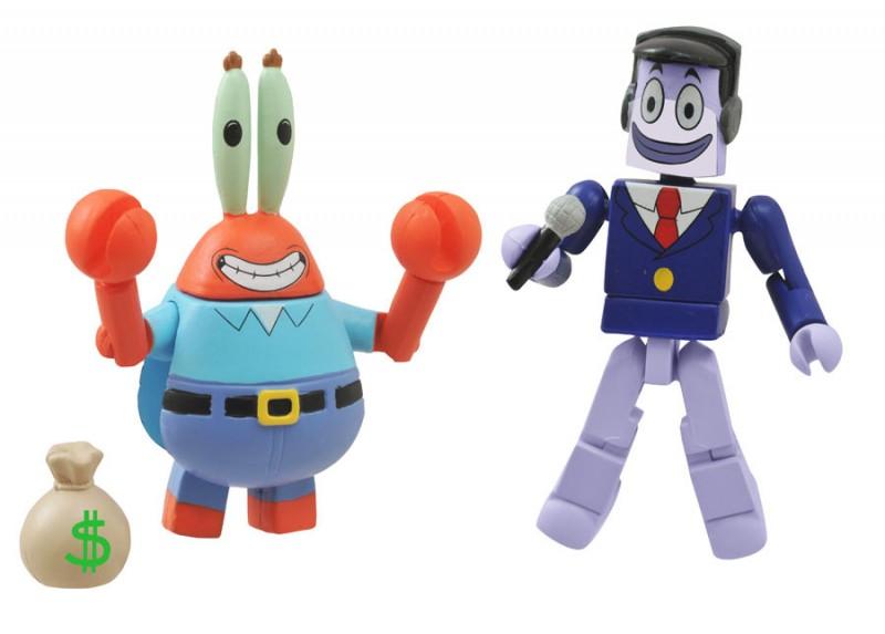 Minimates Spongebob S1  Mr Krabs w Perch Perkins