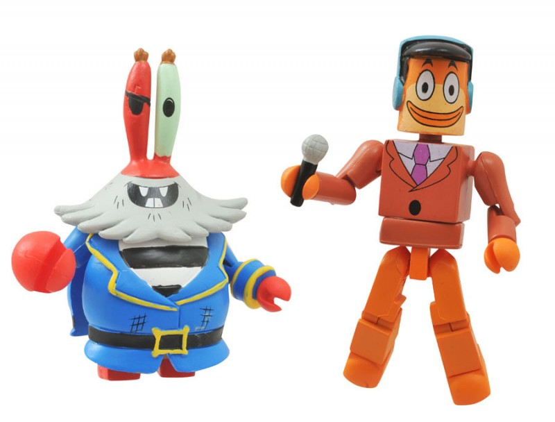 Minimates Spongebob S1  Grandpappy w Orange Peach