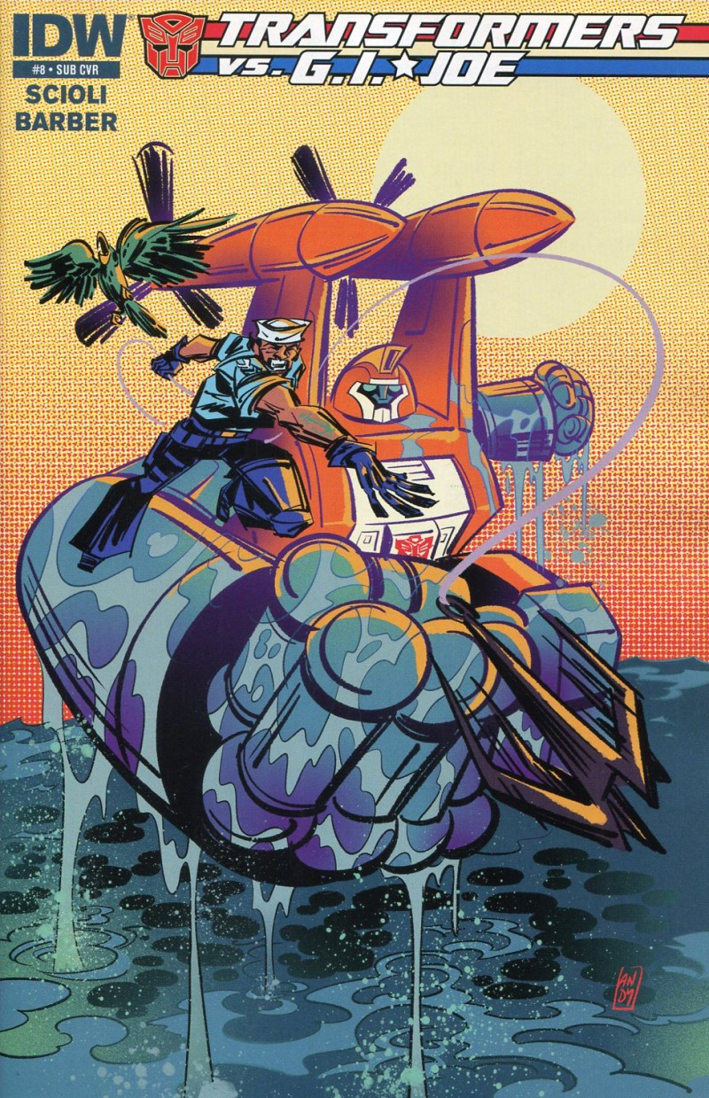 Transformers Vs GI Joe #8 Sub CVR