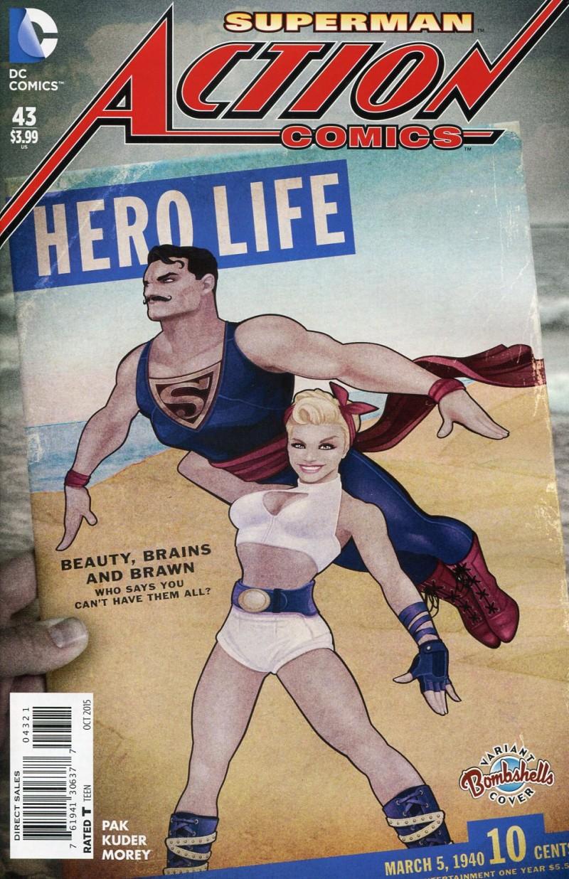 Action Comics V2 #43  Bombshells CVR