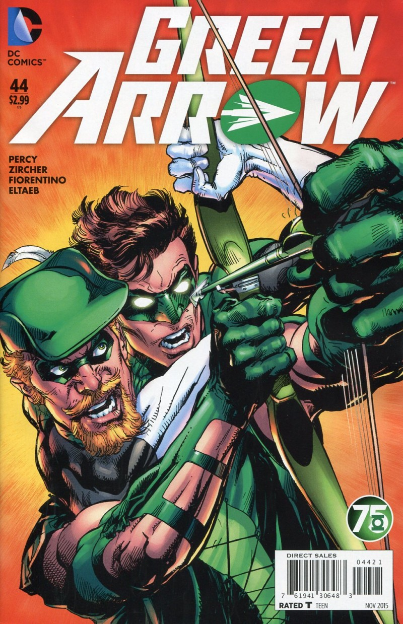 Green Arrow V6 #44  Green Lantern 75th CVR